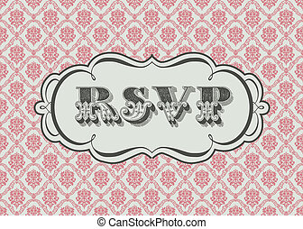 Vector Ornate RSVP Frame and Background