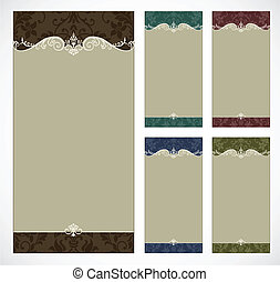 Vector Ornate Tall Frame Set