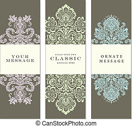 Vector Ornate Tall Label Set