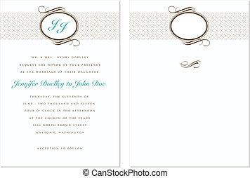 Vector Ornate Wedding Frame Set