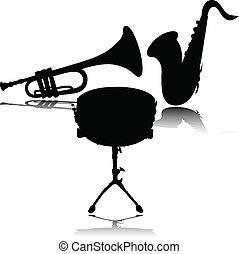 vector, orquesta, ilustración