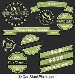vector, oud, retro, ouderwetse , communie, voor, organisch, natuurlijke , items