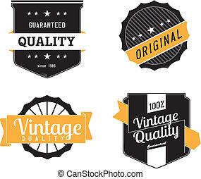 vector, ouderwetse , etiketten