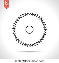 Vector outline icon - Vector outline classic grey circular...