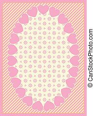 Vector Oval Heart Border