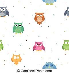 Vector Owl Background