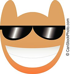 Vector Owl Face With Sunglasses Isolated On White Background