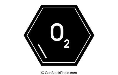 Vector - Oxygen - O2 - Vektor - Sauerstoff - O2 - Icon,...