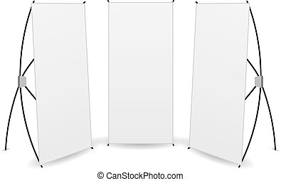 vector pack banner x-stands display isolated