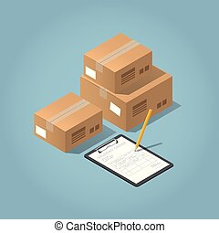 Vector Package Delivery Illustration