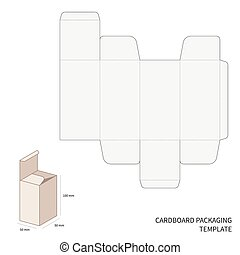 Vector packaging template - Vector cardboard packaging...