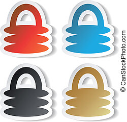 Vector padlock stickers