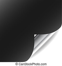 Vector page with curled corner and shadow. Perfect for...