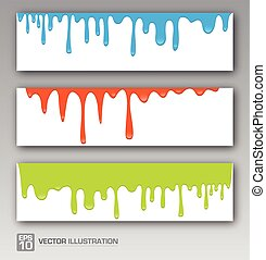 Vector Paint colorful dripping background