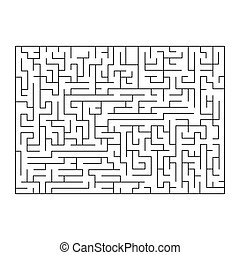 Vector painting of maze, labyrinth. Isolated on white background.