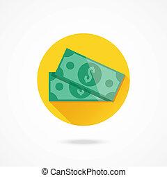 Vector Pair of Dollar Bills Icon