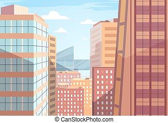 vector, paisaje urbano