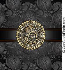 Vector paisley black book cover