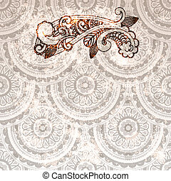 vector paisley element on seamless background
