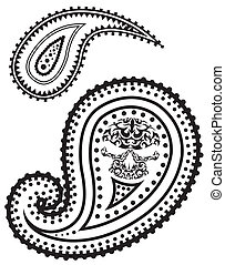 Vector paisley pattern - Vector illustration of paisley ...