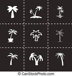 Vector palm icon set