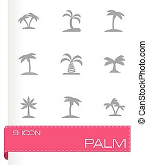 Vector palm icon set