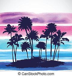 Vector Palm trees illustration