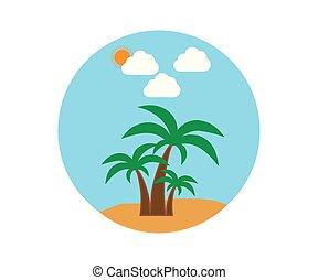 vector, palma, kosteloos, pictogram