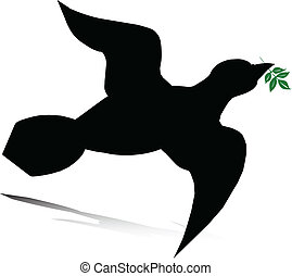 vector, paloma, ilustración