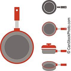vector pan icon, flat design