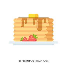 Vector pancakes icon