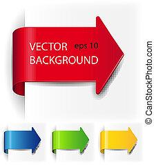 vector, papá, conjunto, flechas, forma