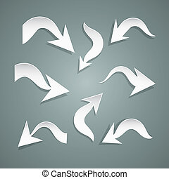 Vector Paper Arrows