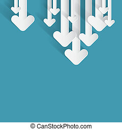 Vector Paper Arrows on Blue Background