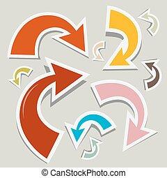 Vector Paper Arrows Set
