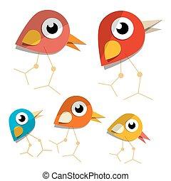 Vector Paper Birds