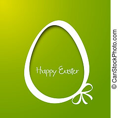 easter - Vector Paper card with easter eggs