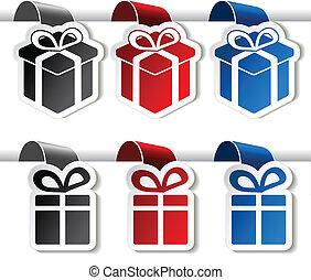 paper Christmas gift, tag