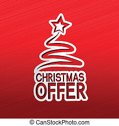 paper Christmas tree, sticker - Christmas offer