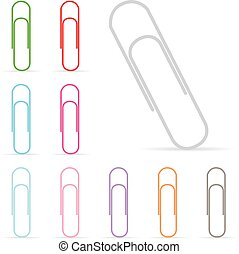 vector paper clip isolated