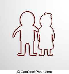 Vector Paper Cut Man and woman