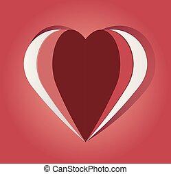 paper cut out heart - vector paper cut out heart