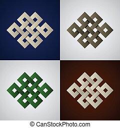 vector paper endless celtic knots