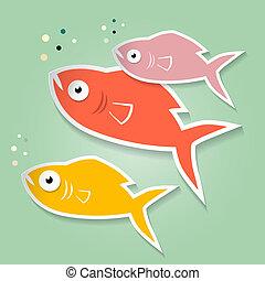 Vector Paper Fish Illustration