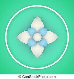 Vector paper flower origami