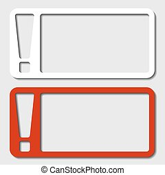 vector paper frame exclamation mark