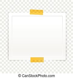 Vector paper frame isolated on white transparent. Vector illustration