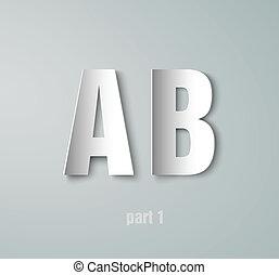 Vector Paper Graphic Alphabet