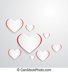 Vector Paper Hearts Abstract Background