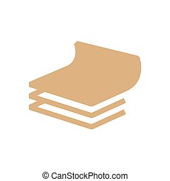 vector paper icon and Logo brown color